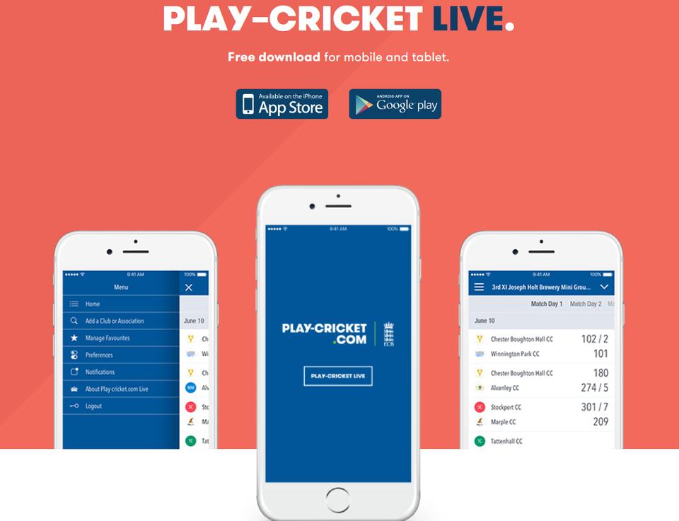 Play-Cricket Live App